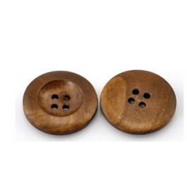 Bouton en bois, 1 pièce, 2.5 cm